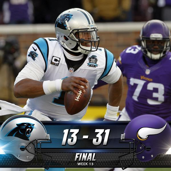 Panthers lose to Minnesota and fall to 3-8-1 on the season.