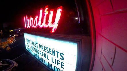 Varsity Theatre marquis