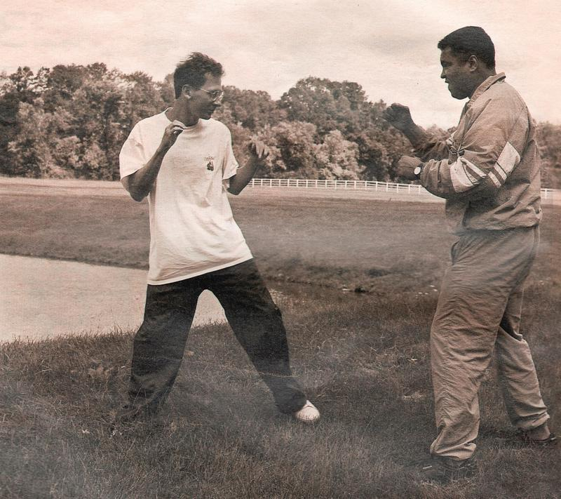 Davis Miller and Muhammad Ali in 1992.