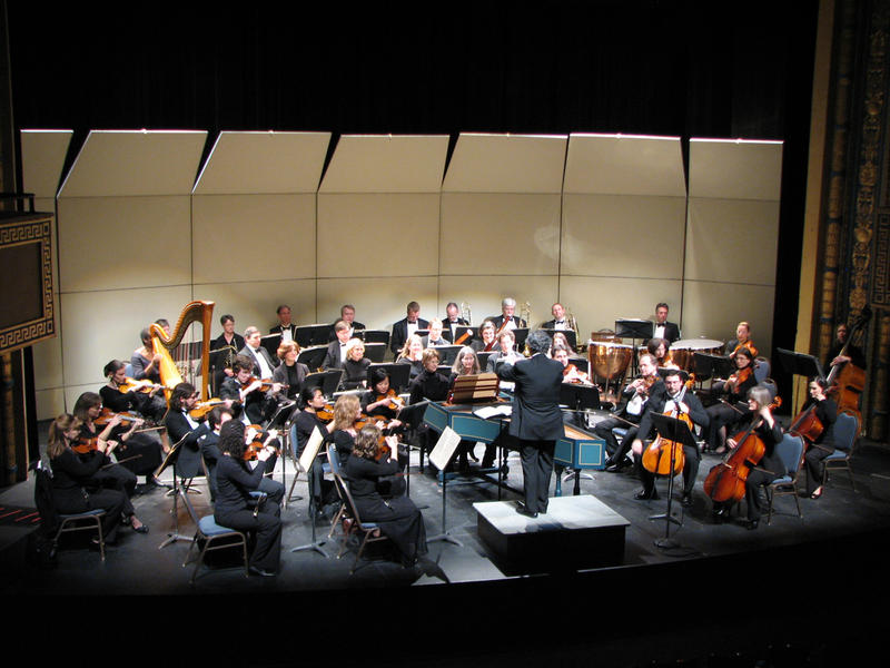 The Chamber Orchestra of the Triangle performing at the Carolina Theatre of Durham where they have been performing for more than 20 years