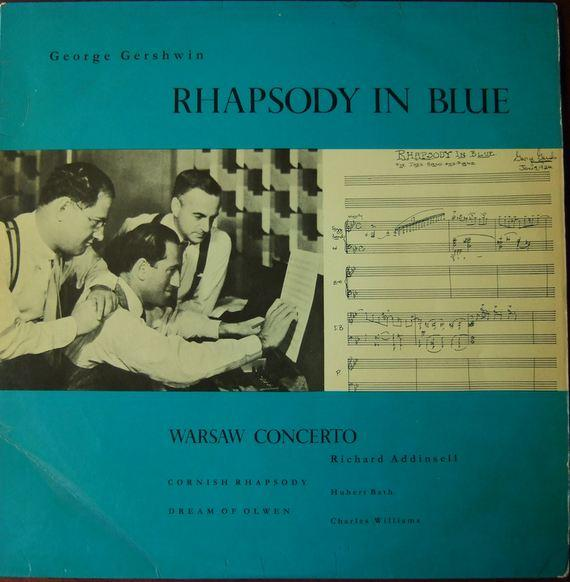 Gershwin - Rhapsody in Blue - Sondra Bianca Piano, Warsaw Concerto, Cornish Rhapsody, Dream of Olwen - Addinsell, Hubert Bath, Charles Williams, Musiphon op.153