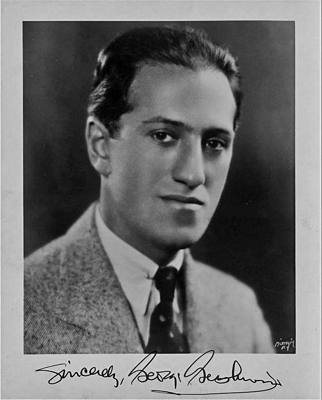 Signed George Gershwin photo.
