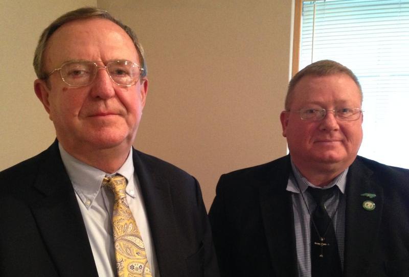 Chief District Court Judge Albert A. Corbett, Jr. (Ret.) left with Lieutenant Colonel Mark Teachey (Ret.)