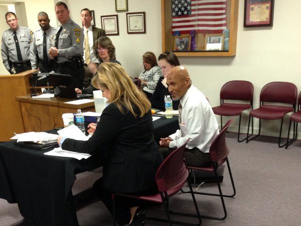 Joseph Sledge and his attorney Christine Mumma 1/23/15