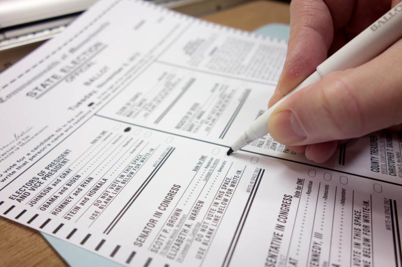 Photo: A voting ballot