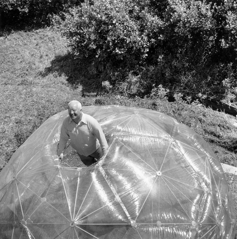 Fuller in the geodesic dome.