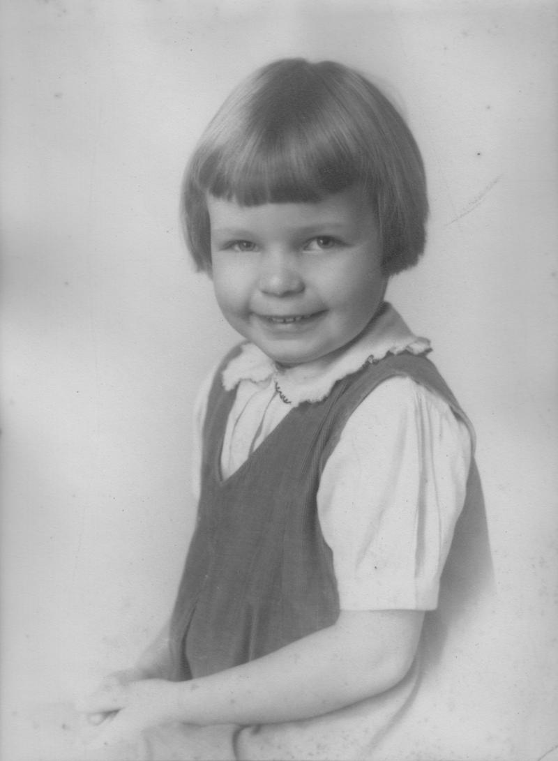 Mary-Dell as a young child when she was living with her grandparents in Southern Pines, NC.