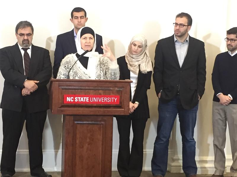 Members of the Barakat and Abu-Salha families share their gratitude for N.C. State's new scholarship fund honoring the memories of Razan Abu-Salha, Deah Abu-Salha and Yusor Abu-Salha.