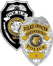 A picture of a Greensboro police badge.