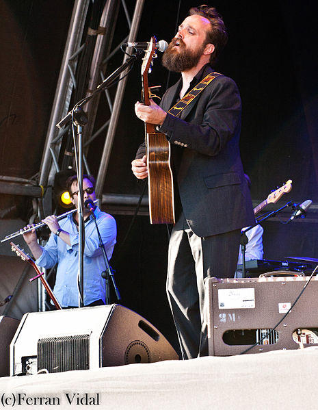 Durham resident Sam Beam, aka Iron & Wine, performing live.