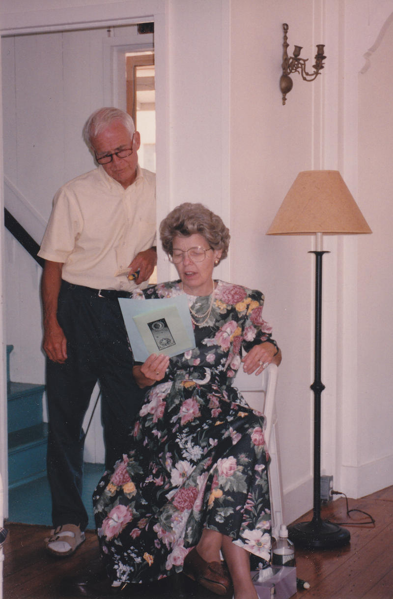 Mary-Dell and her late husband Scott on their son Mark's wedding day. Mark Chilton served for more than five years as the mayor of Carrboro, NC.