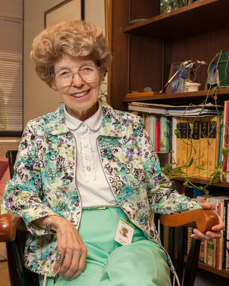 Mary-Dell Chilton in her office at Syngenta.