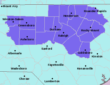 National Weather Service map