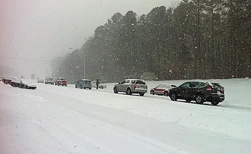 snow on I-40