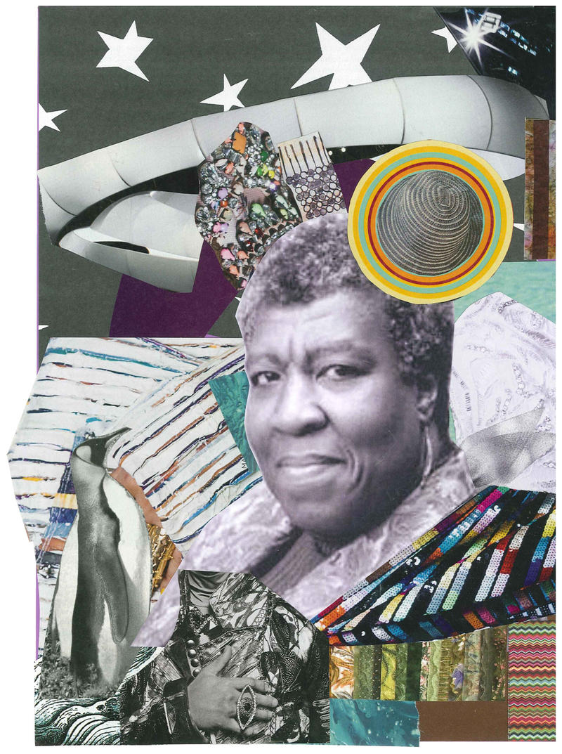 My My My. Collage for Octavia Buttler by Alexis Pauline Gumbs