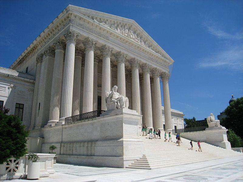 Supreme Court building, Washington, DC, USA. Front facade.
