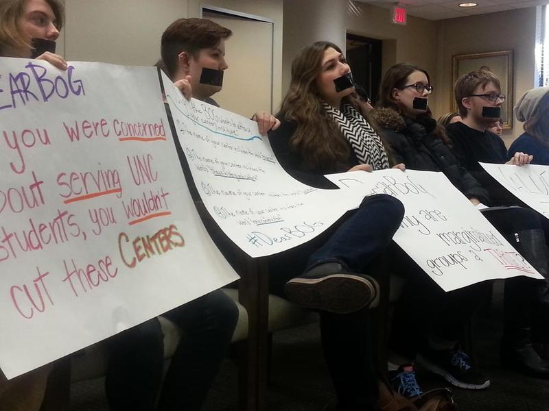 Protesters disrupt UNC board debate about poverty center.