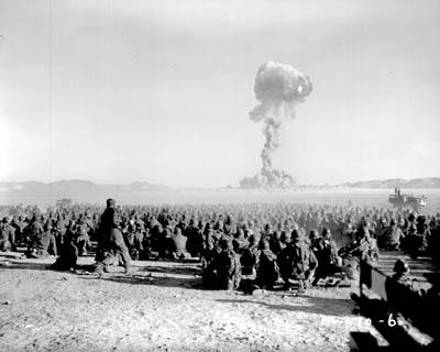 Photo from the first U.S. nuclear field exercise on land on Nov. 1, 1951.