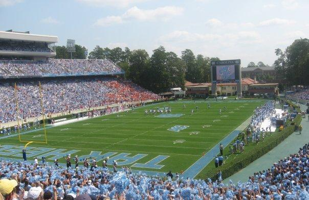 Kenan Memorial Stadium, where the Tar Heels have played since 1927