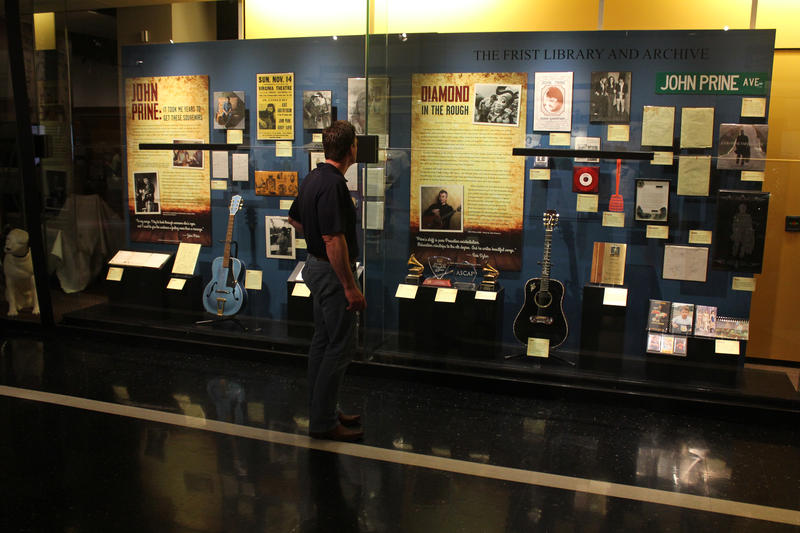 Image of John Prine Exhibit at the Country Music Hall of Fame.