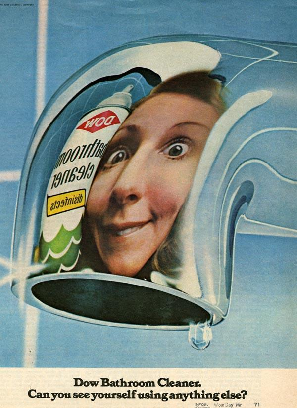 An advertisment for toilet cleaner