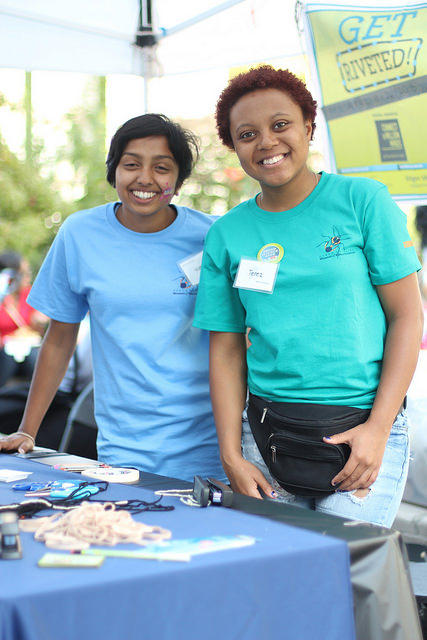 Volunteers at the 2014 NC Science Festival.