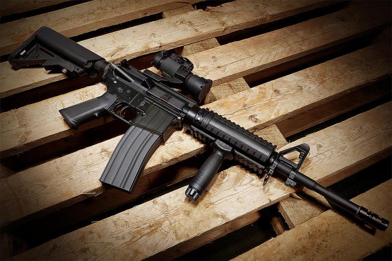 Assult Rifle on display.