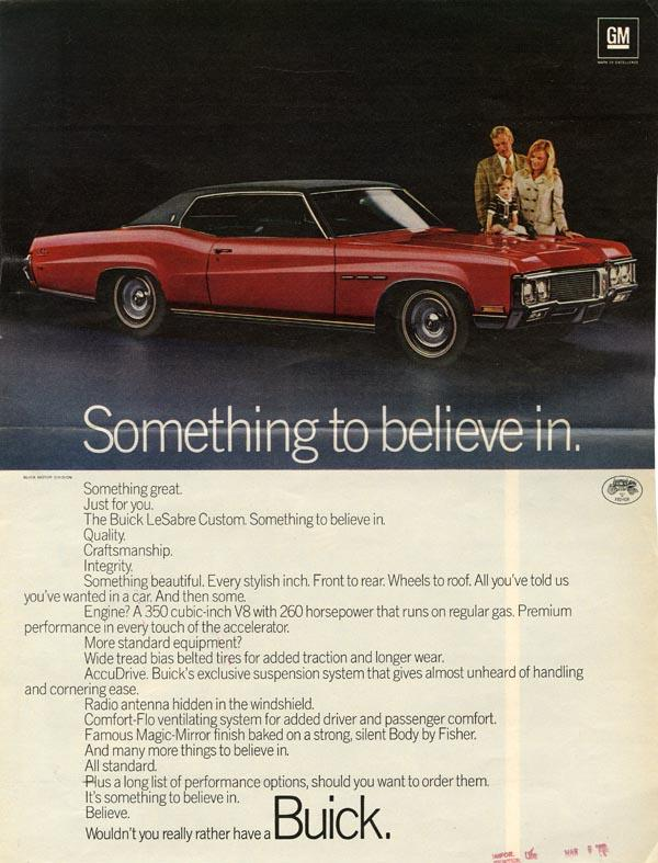 An advertisement for Buick automobiles