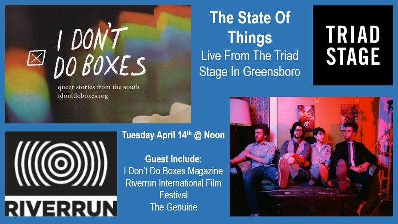 The State of Things is coming to Greensboro's Triad Stage.