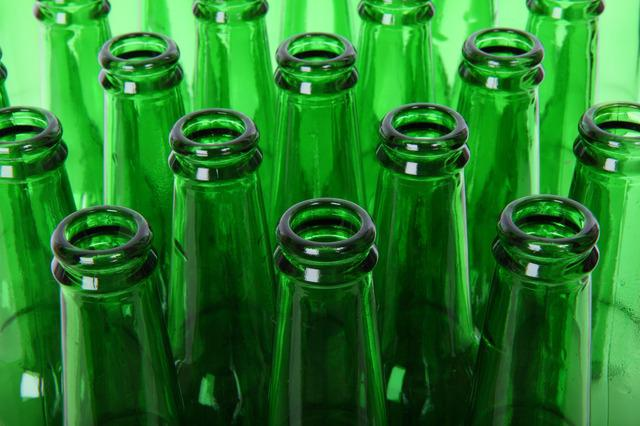 A picture of beer bottles