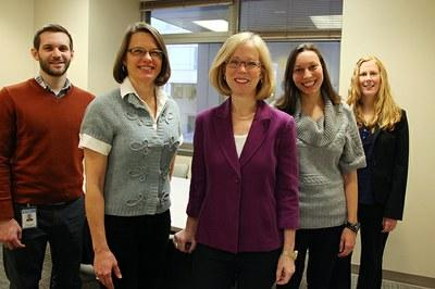 Cynthia Bulik with the Anorexia Nervosa Genetics Initiative US Team.