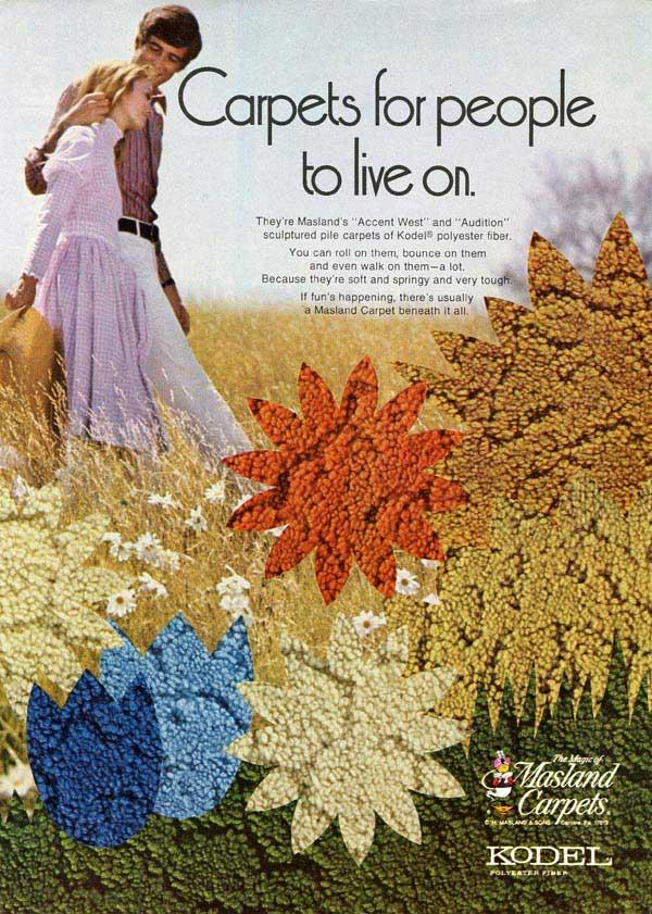 An advertisement for carpeting