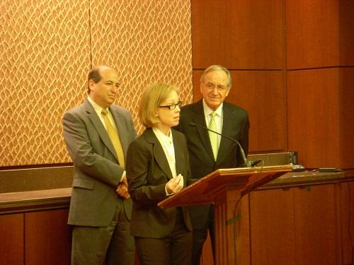 Cynthia Bulik giving a congressional briefing on eating disorders in 2010. Her work in the field includes policy work and advocacy to get more funding for eating disorder treatment and research.