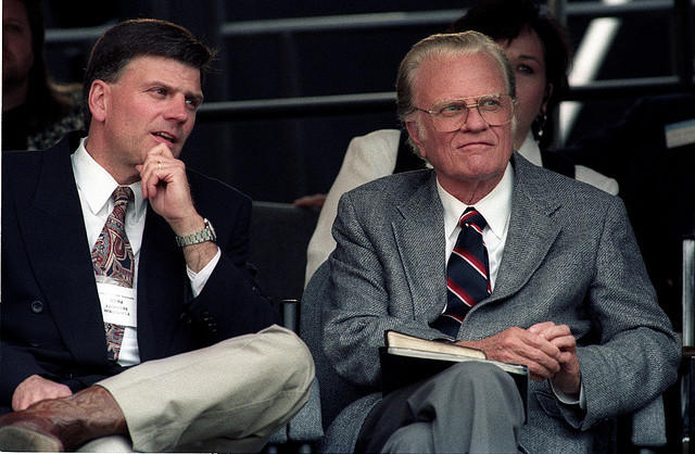Photo: Billy Graham and his son Franklin
