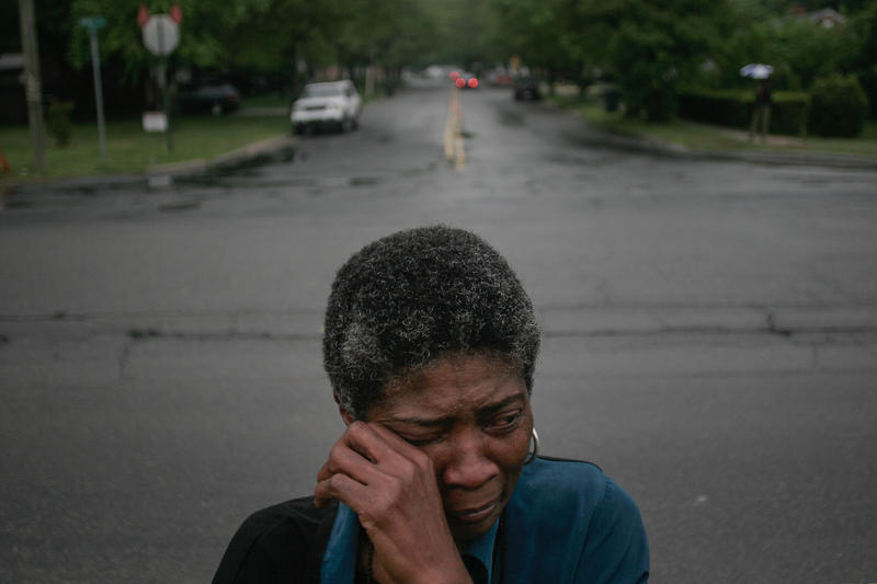 Joslin Simms, the mother of Ray Simms who was murdered in May of 2005.