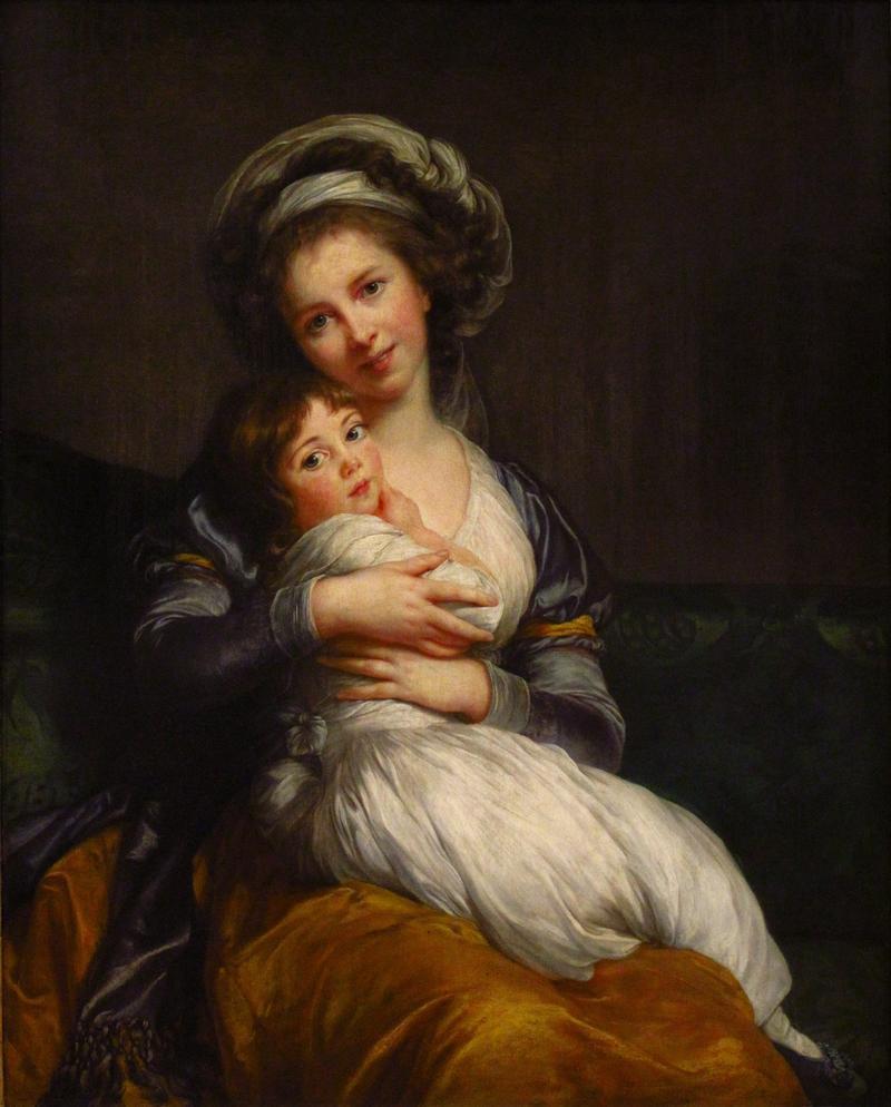 Louise Élisabeth Vigée Le Brun's smiling self-portrait.
