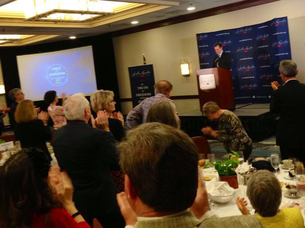 Photo: Sen. Ted Cruz of Texas on stage in Raleigh
