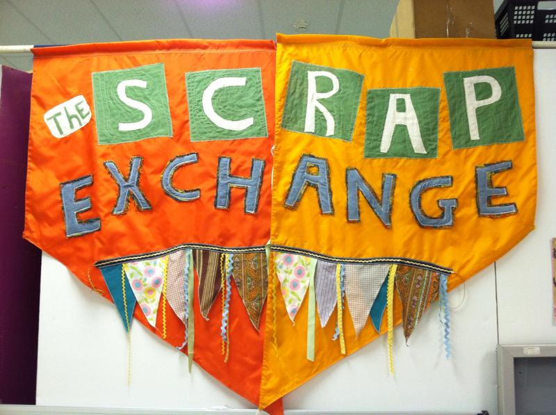 The Scrap Exchange displays art made from second-hand materials.