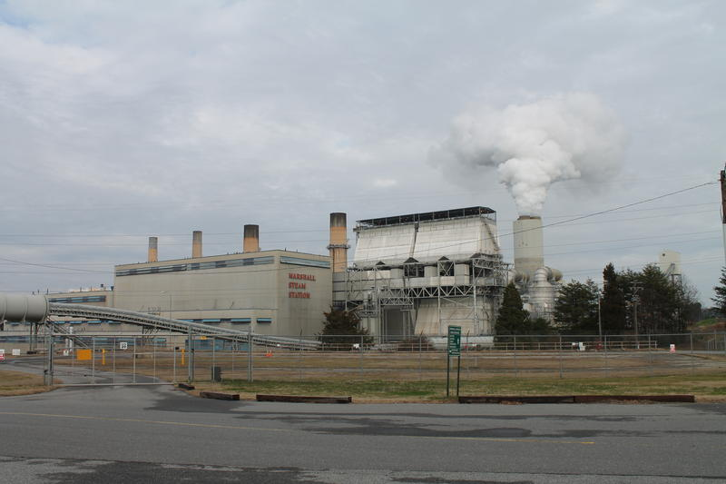 A view of Duke Energy's Marshall Steam Station from the public entrance off N.C. Highway 150.