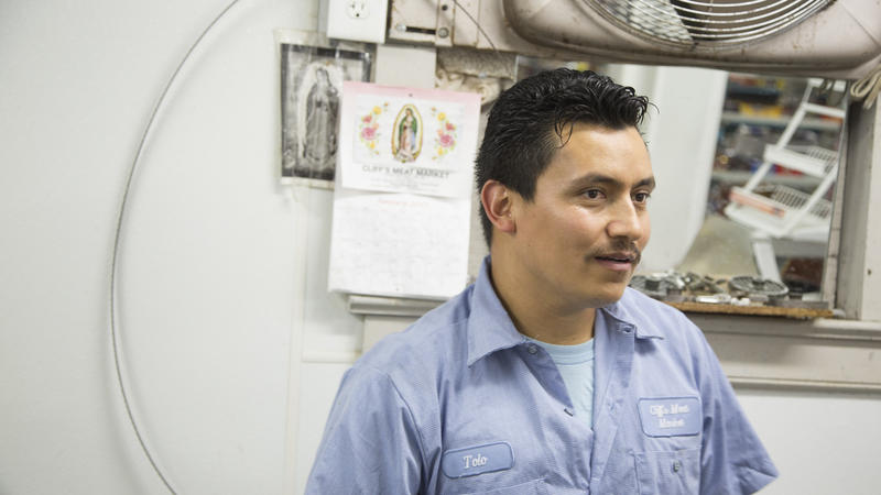 Image of Gerardo (Tolo) Martinez, an employee at Cliff's Meat Market.