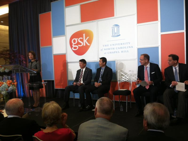 A picture of the UNC and GSK press conference.