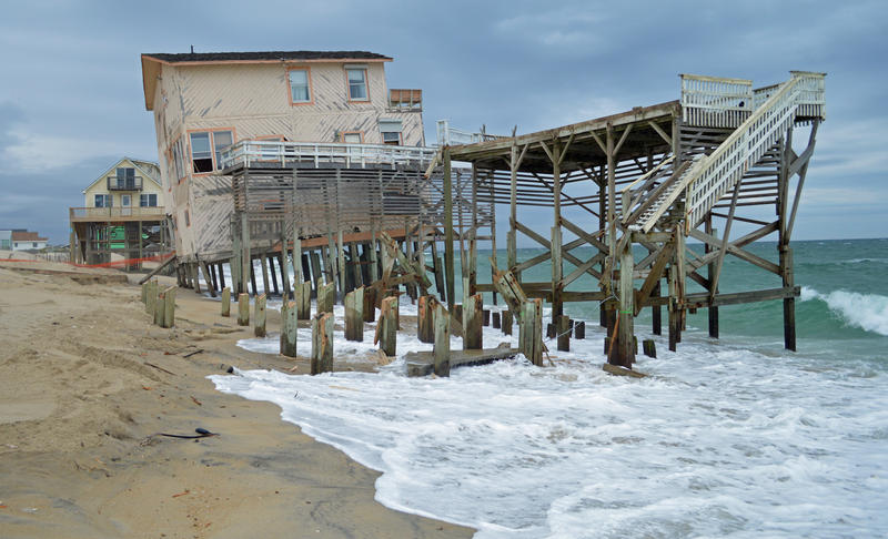 File photo of a house on Nags Head. By the year 2045, 2,000 homes in Nags Head and Hatteras can expect flooding every other week, according to the non-profit Union of Concerned Scientists.