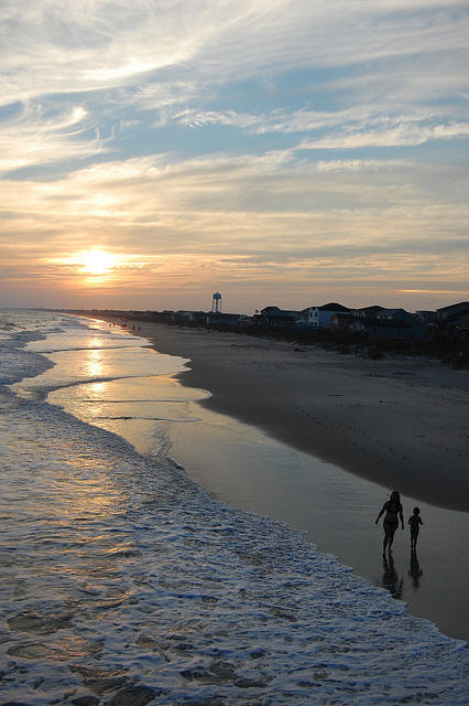 A view from Ocean Crest Pier, Oak Island.