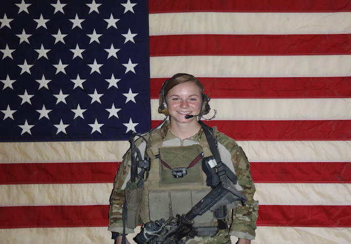 Image of Ashley White, who lived in Raeford and died in action in 2011 and became the first woman remembered on the National Infantry Museum's Memorial Walk.