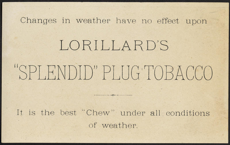 Image of 19th Century Trade Card About Lorillard