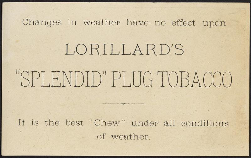 Image of 19th Century Trade Card About Lorillard