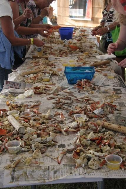 Image of steamed blue crab tasting at Outer Banks Seafood Festival