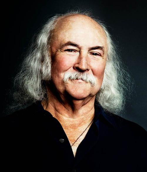 Image of David Crosby, who is a singer-songwriter and two-time Rock and Roll Hall of Fame inductee.