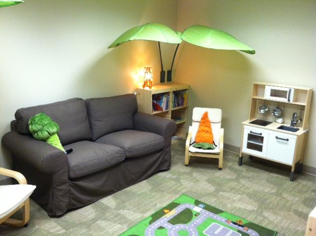 The children's area in the lobby of the new Family Justice Center.