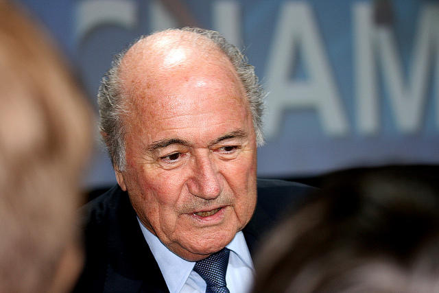 Image of Sepp Blatter, who said Tuesday he will resign as president amid the controversy surrounding FIFA.